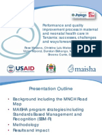 Performance and quality improvement process in maternal and neonatal health care in Tanzania