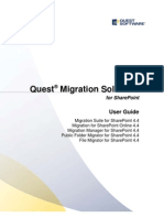 File Migrator for Sharepoint User Guide Userguide 3140