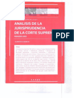 Bianchi, Analisis de La Jurisprudencia de La Corte Suprema 2012