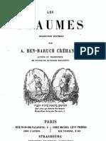 Les Psaumes Trad Ben Baruch