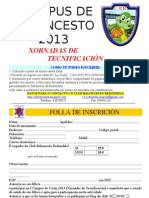 I CAMPUS DE BALONCESTO - Folla de inscripción