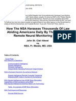 Strahlenfolter - Targeted Individuals - How the NSA Harasses Thousands of Law Abiding Americans Daily by the Usage of Remote Neural Monitoring (RNM)