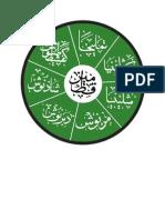 Kaligrafi Asma Ashabul Kahfi