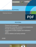 Facility Assessment Summary