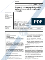 NBR 13029 - 1993 - Elaboracao e Apresentacao de Projeto de Disposicao de Esteril Em Pilha Em Mineracao