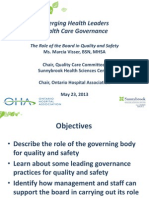 Marcia Visser EHL Toronto Governance 101 23-05-14
