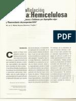 Efecto de la relación celulosa-hemicelulosa