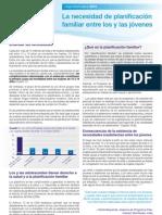 Necesidad de Ppff Entre Jovenes 2012