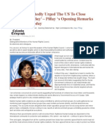 'I Have Repeatedly Urged The US To Close Guantanamo Bay' – Pillay 's Opening Remarks At UNHRC Today