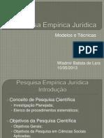 Pesquisa Empírica Jurídica