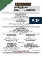 SNP Legal Clinic Schedule
