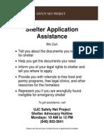 SNP Shelter Advocacy Flyer