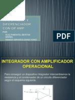 Integrador y Diferenciador Con Op Amp
