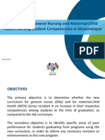 Evaluation of General Nursing and Maternal-Child Health Nursing Student Competencies in Mozambique