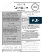 WMGS Newsletter Summer 2013 edition