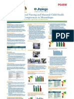 Evaluation of General Nursing and Maternal-Child HealthNursing Student Competencies in Mozambique (poster version)