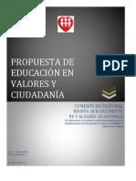 EDUCACIÓN  EN VALORES FyA