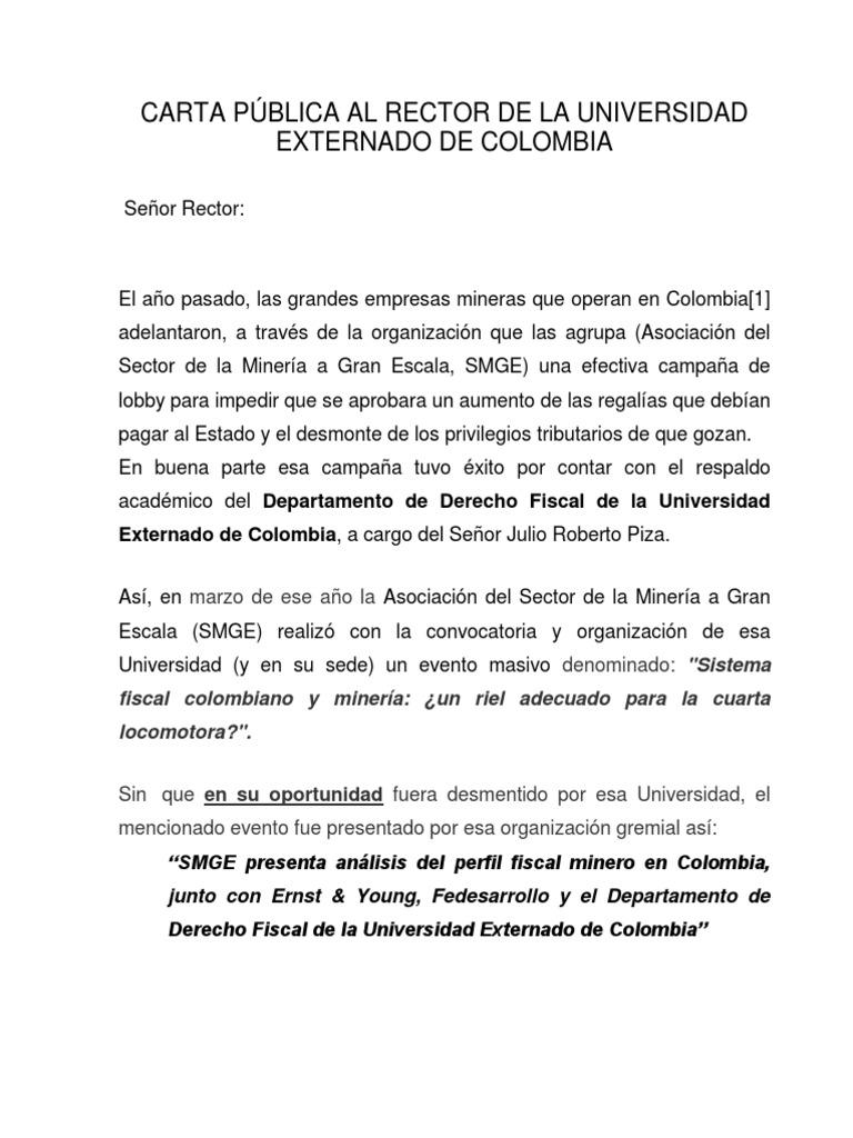Carta pblica al rector de la universidad externado de colombiapdf thecheapjerseys Choice Image