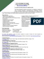 Area de Ciencias de la Computacion llamado a articulos Intercon 2009