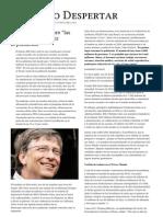 El Nuevo Despertar. Bill Gates Habla Sobre Las Vacunas Para Reducir La Poblacion