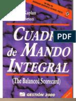 501-20081202-Cuadro de Mando Integral - R Kaplan - D Norton