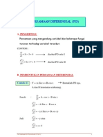 Persamaan Diferensial Orde 1