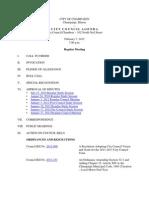 2012-02-07 Regular Council Meeting Agenda