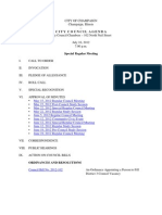 2012-07-10 Special Regular Council Meeting Agenda