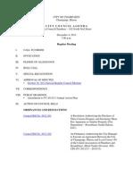 2012-12-04 Regular Council Meeting Agenda