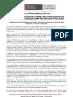 POLICÍAS QUE REALIZARON ACCIONES DESTACADAS EN LUCHA CONTRA LA DELINCUENCIA SERÁN RECONOCIDOS POR LA PNP