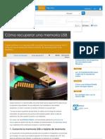 Cómo recuperar una memoria USB