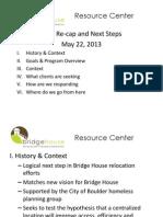 Resource Center Pilot Overview