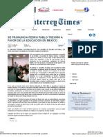 28-05-13 Se pronuncia PPT a favor de la educacion en Mexico