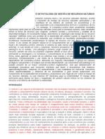 COMANDO E CONTROLE E DE PATOLOGIA DE GESTÃO DE RECURSOS NATURAIS
