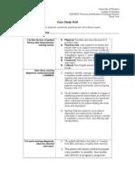 Case Study Grid NUR 403 Theories and Models of Nursing Practice