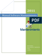 Manual de Usuario Software Mantenimiento