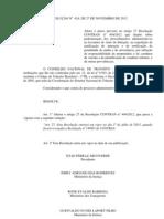 RESOLUÇÃO Nº 424, DE 27 DE NOVEMBRO DE 2012