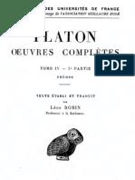 Platon - Phedre (Edition Léon ROBIN)