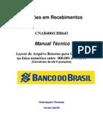 Manual Arquivo Retorno CNAB400 6 Posicoes BB