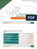 Suncorp Group Investor Day Presentation ASX - Final