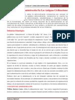5. LECTURA 1 Historia De La Administración En Las Antiguas Civilizaciones
