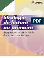 Strategie de Lecture