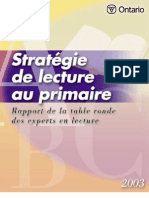 Strategie de Lecture