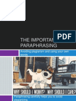 Paraphrasing (Project Two)