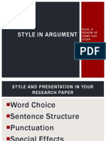 Style in Argument v.1 (Project Two)