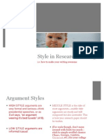 Style in Argument v.2 (Project Two)