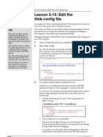 Lesson 3 13 Edit the Web.config File