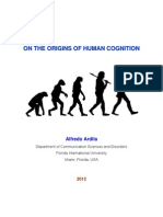 ardila a 2012 on the origins of human cognition