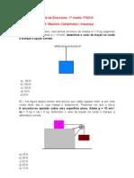 Lista de Exercícios Física - 1º médio - tração