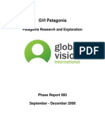 GVI Patagonia Expedition Science Report (September-December 2008)